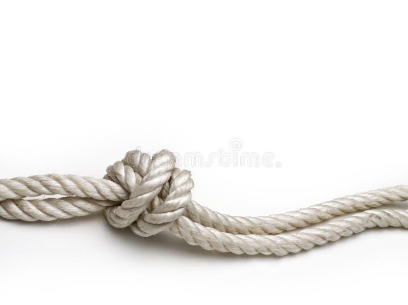 Seil mit einem Knoten stockbilder