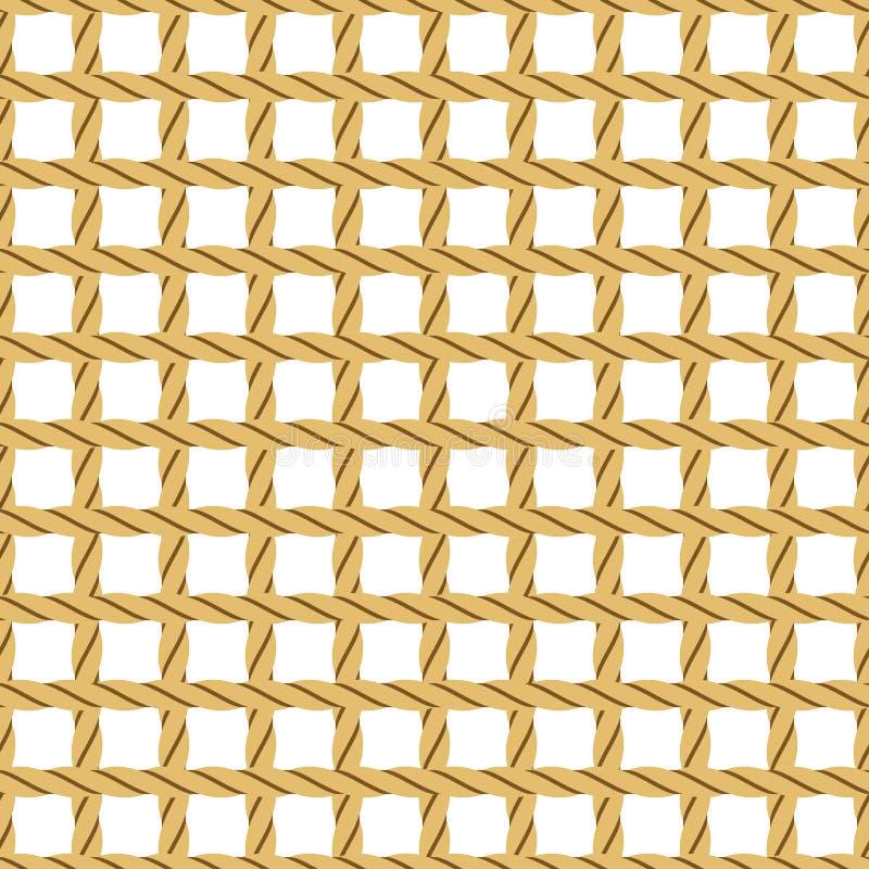Seil, nahtloser Hintergrund stock abbildung