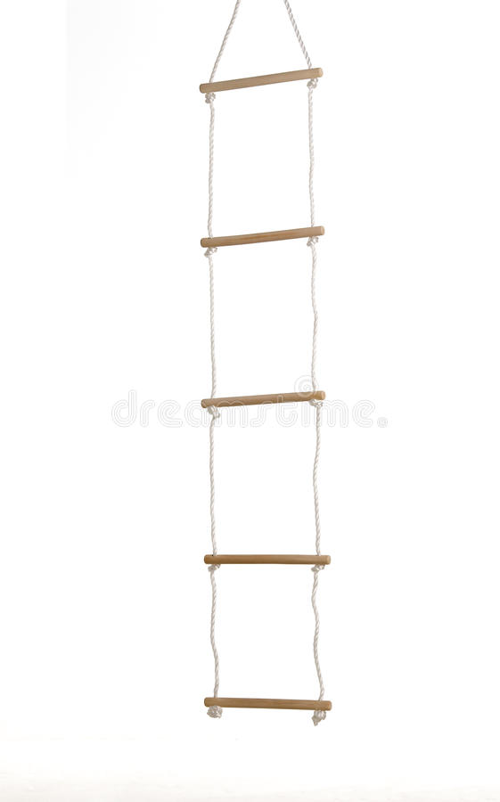 Seil-Strichleiter stockfotografie