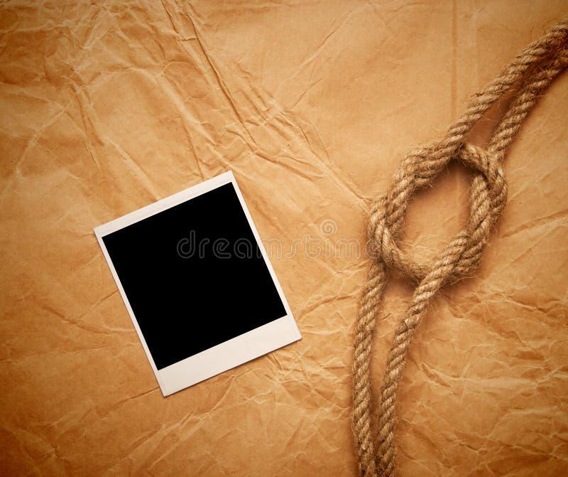 Seil und altes Foto stockbild