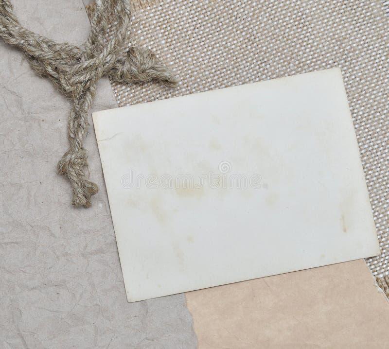 Seil und altes Foto stockfoto