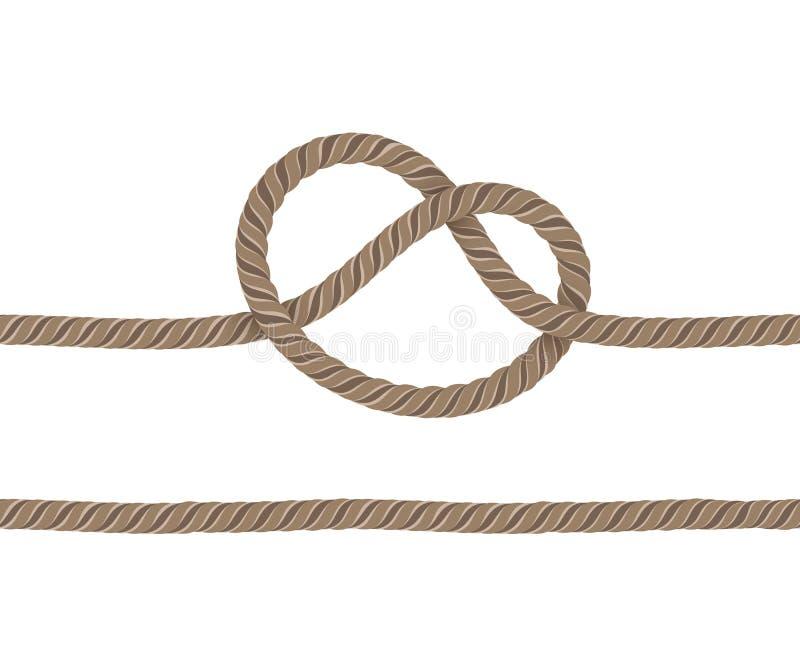 Seil wird geknotet stock abbildung
