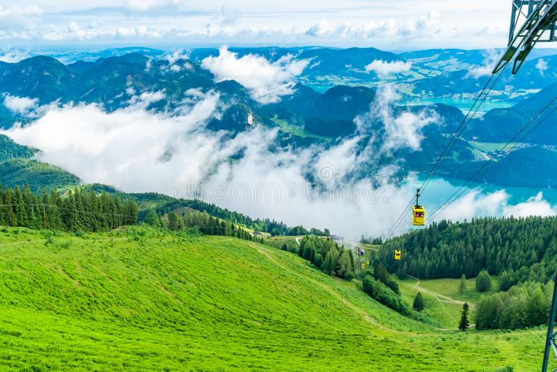 Seilbahn cable car in Sankt Gilgen, Austria stock photos