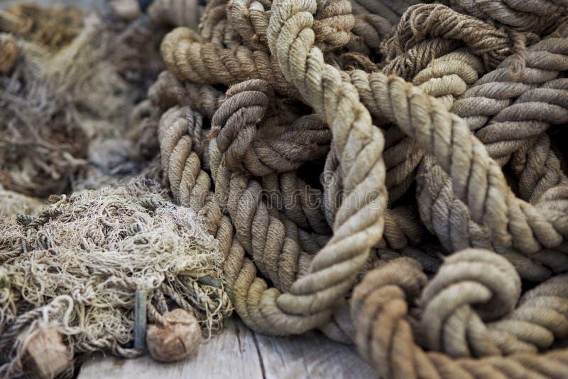 Seile und Netze lizenzfreie stockbilder