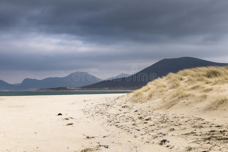 Seilebost beach on the Isle of Harris in Scotland. royalty free stock image