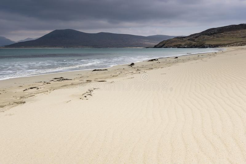 Seilebost beach on the Isle of Harris in Scotland. royalty free stock photos