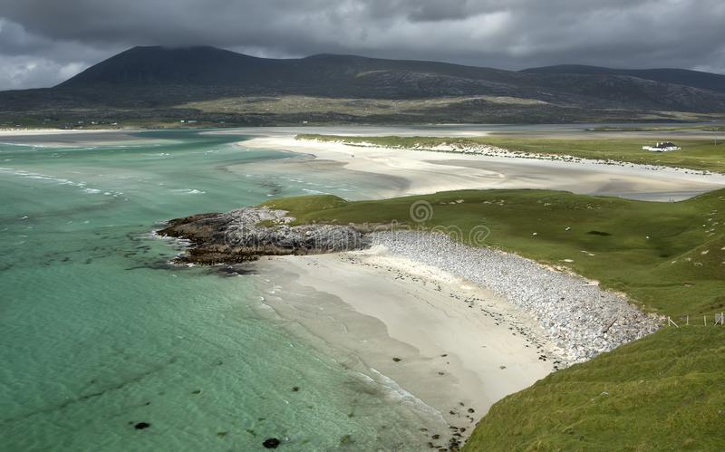 Seilebost Beach, Outer Hebrides, Scotland. royalty free stock photos