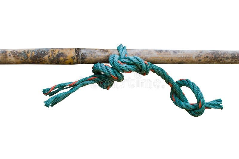 Seilknoten mit Bambus lizenzfreies stockbild
