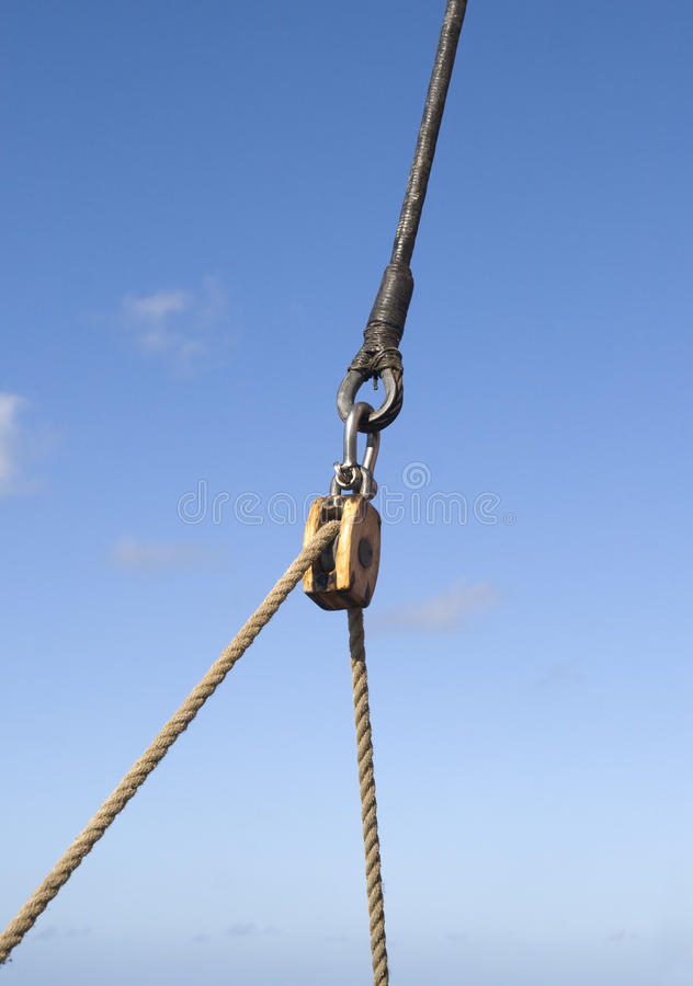 Seilrolle stockfotografie