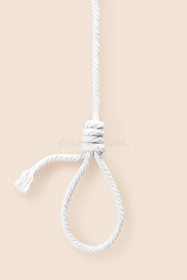 Seilschleife für toten Hals stockfoto