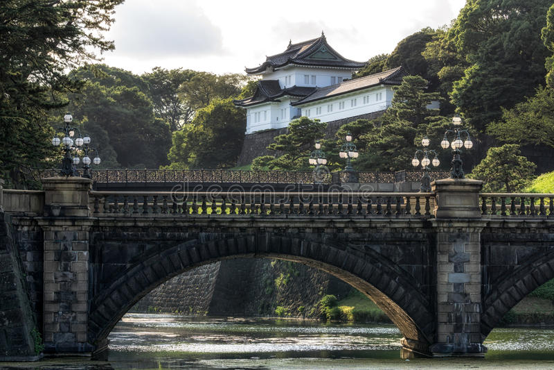 Seimonishbrug en het paleis van Tokyo royalty-vrije stock fotografie