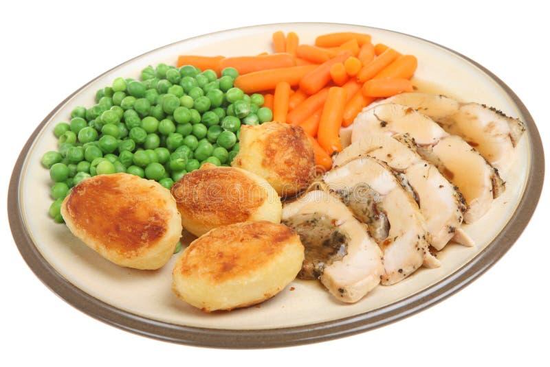 Sein bourré par rôti de poulet images stock