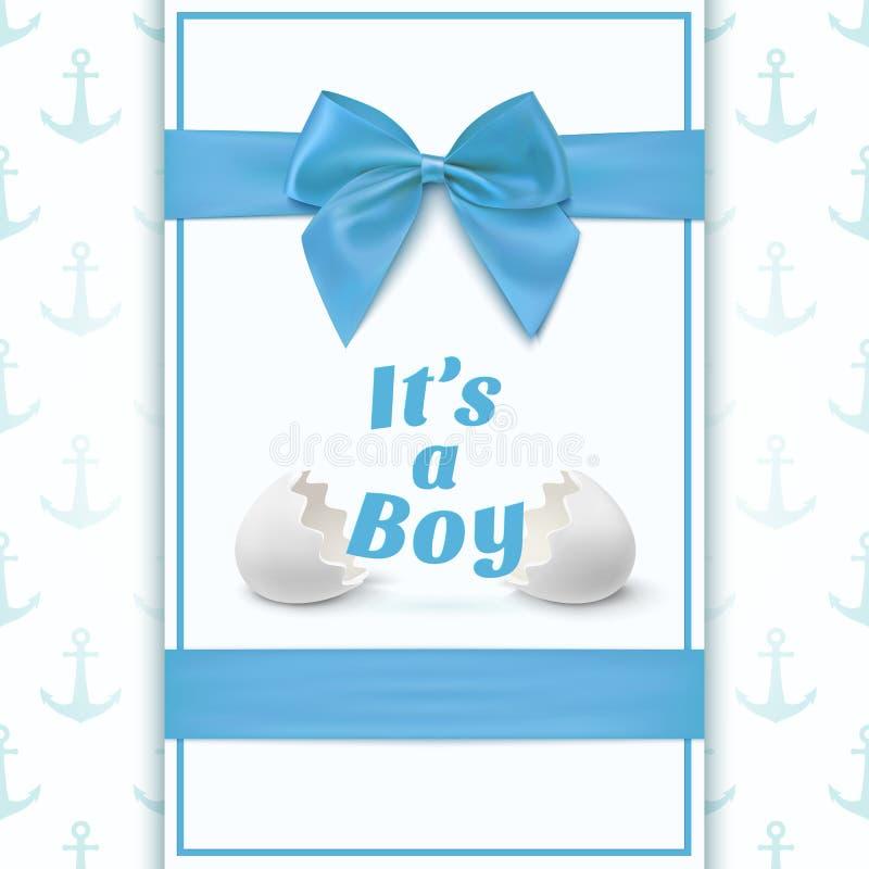 Sein Ein Junge Schablone Für Babyparty Vektor Abbildung ...