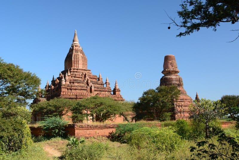 Sein Nyet阿马寺庙和Sein Nyet尼玛塔 Bagan 曼德勒地区 缅甸 免版税图库摄影