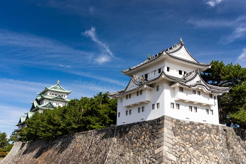 Seinan-sumi Yagura, Southwest Corner Watchtower at Nagoya Castle. Japan royalty free stock photography