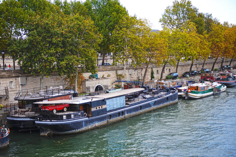 Download Seine stock image. Image of water, city, afternoon, barges - 16445925