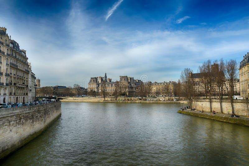 seine de fleuve de Paris images libres de droits