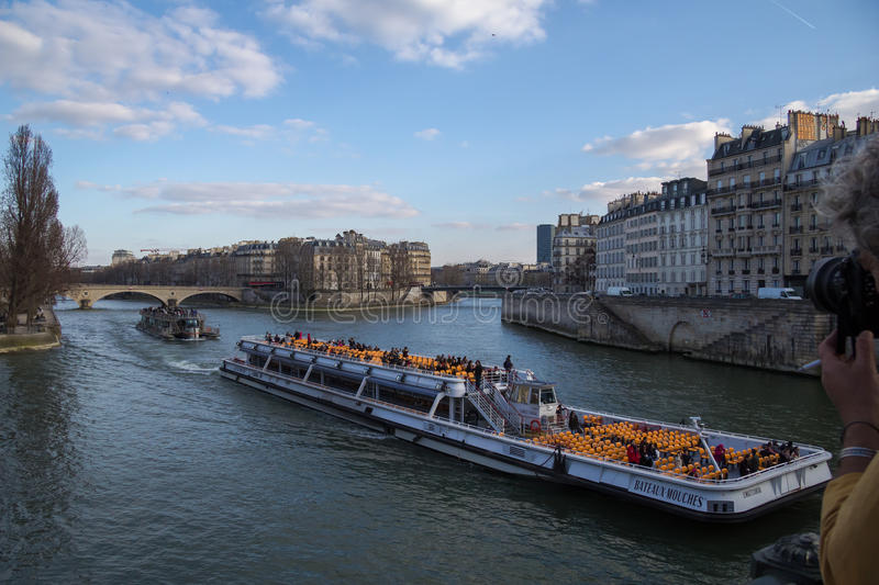 Seine embankment stock image