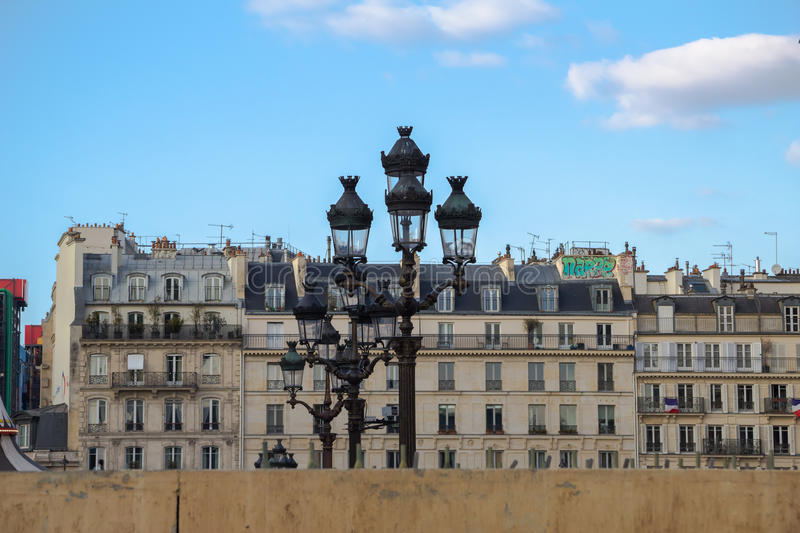Seine embankment royalty free stock photo