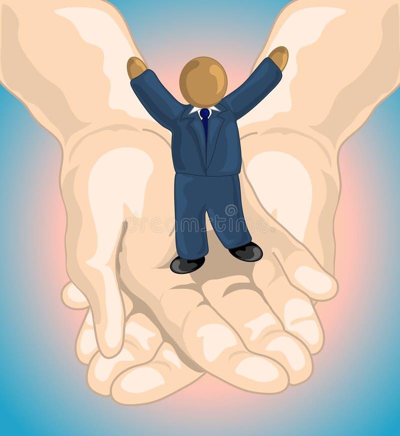 Seine Hände stock abbildung