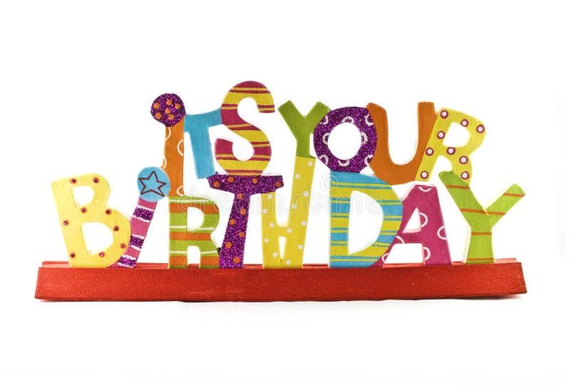 Seine Ihre Geburtstag-Meldung lizenzfreie stockbilder