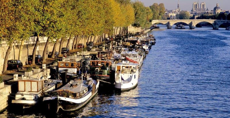 Seine Paris de fleuve photos libres de droits
