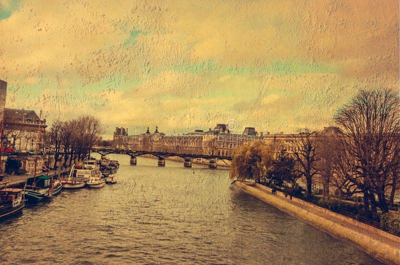 Seine River in paris royalty free stock image