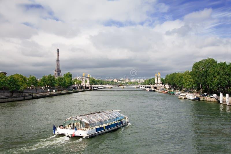 Seine River, Paris, France royalty free stock photo