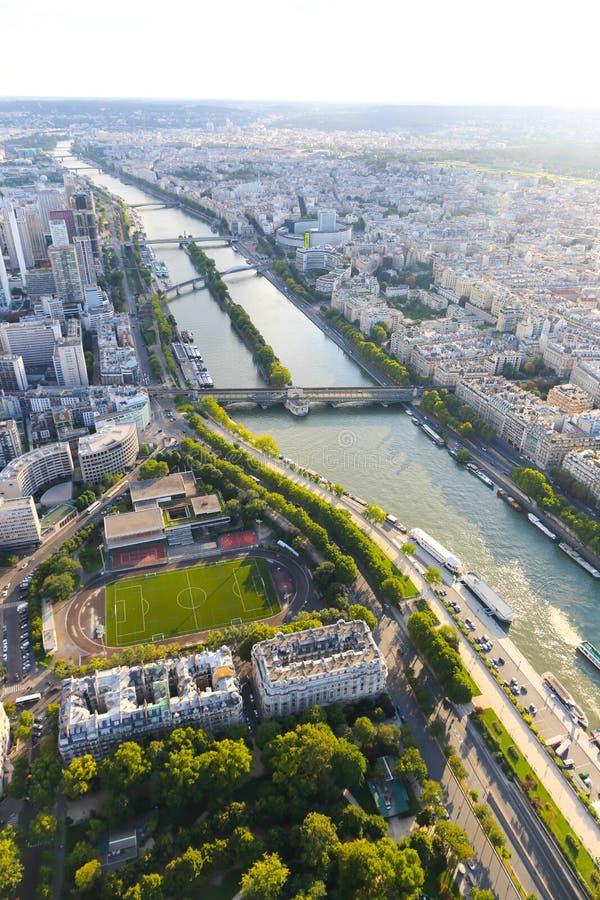 Seine River - vista da torre Eiffel foto de stock royalty free