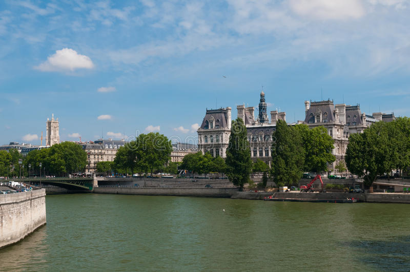 Download The Seine editorial stock image. Image of france, europe - 31035499