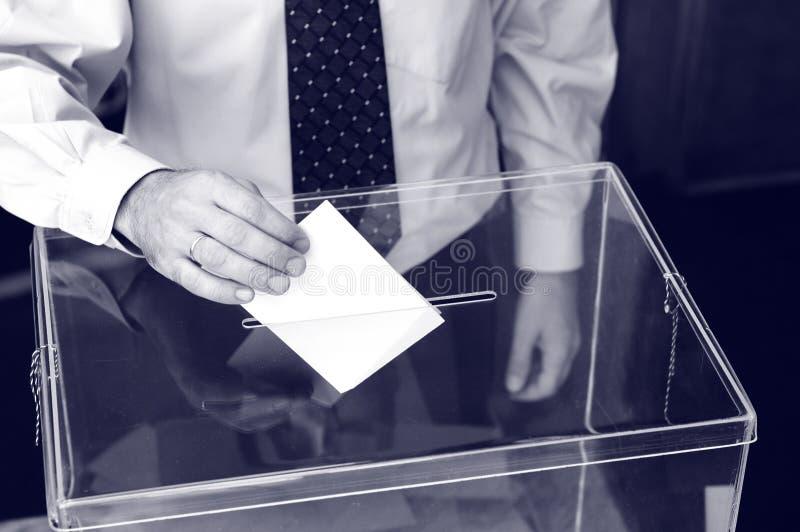 Seine Zeit für Wahlen stockfotos