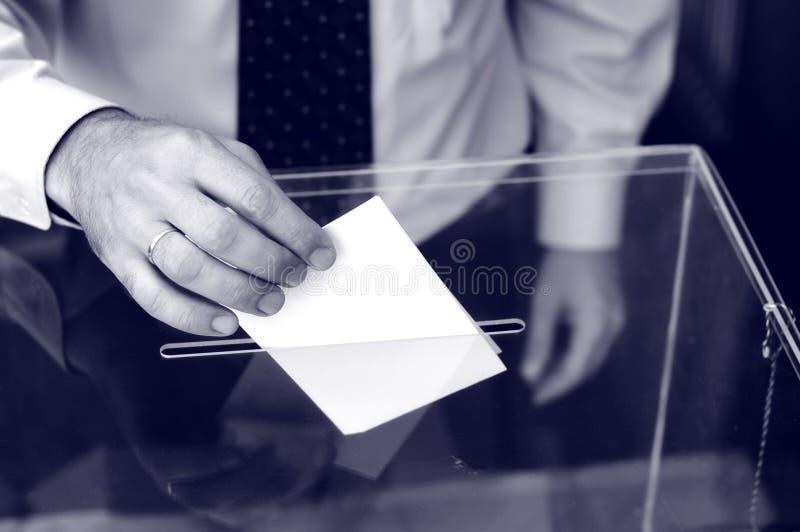 Seine Zeit für Wahlen stockbild