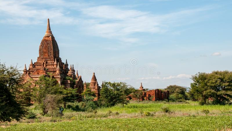 Seinnyet Nyima Paya i Bagan royaltyfri bild