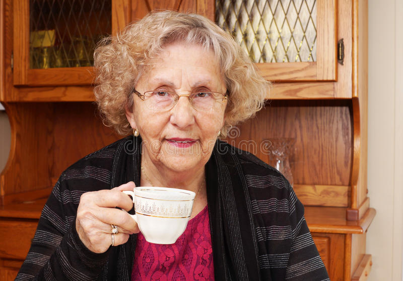 Download Seinor Woman With Cup Of Tea Stock Image - Image: 36997233