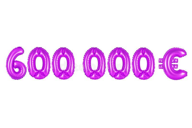 Seis cem mil euro, cor roxa fotos de stock royalty free