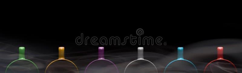 Seis copos de cores diferentes imagem de stock royalty free