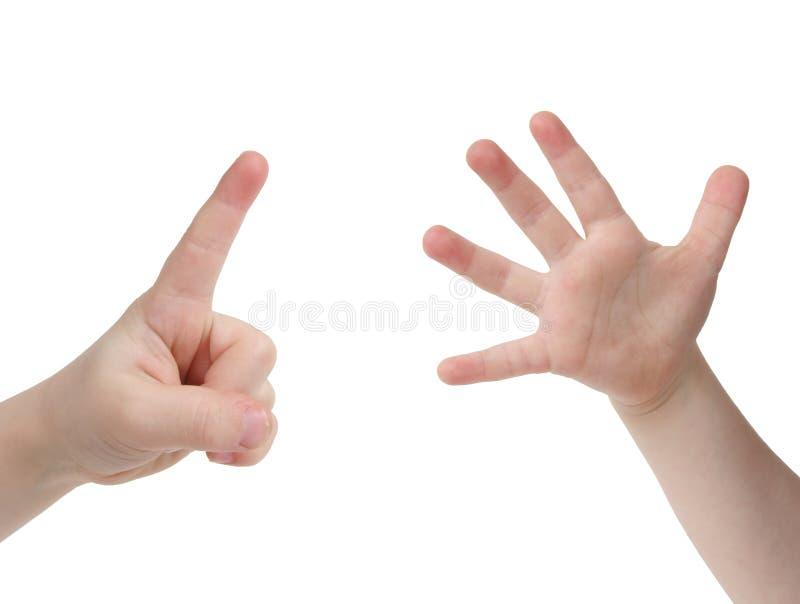 Seis dedos fotos de stock