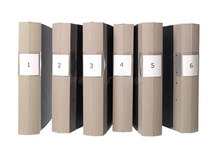 Seis dobradores fotos de stock