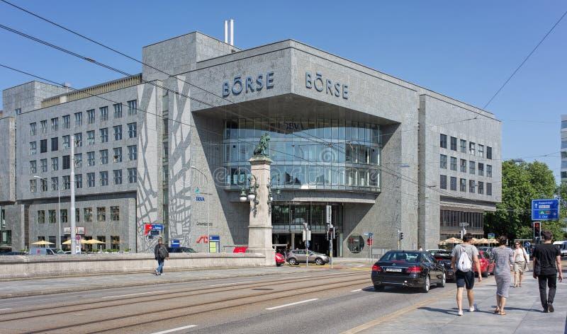 SEIS edificios de Swiss Exchange fotos de archivo libres de regalías