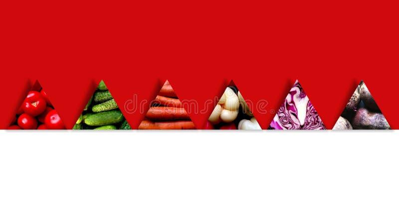 Seis formulários do triângulo completamente de legumes frescos fotos de stock royalty free