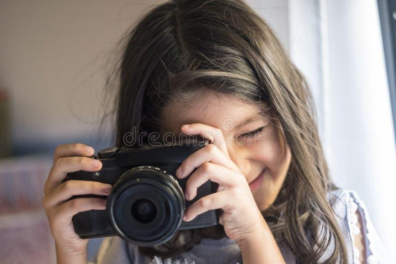 Seis fotos años de la muchacha fotos de archivo libres de regalías