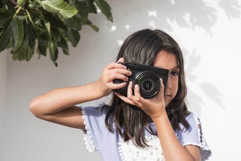 Seis fotos años de la muchacha fotografía de archivo libre de regalías