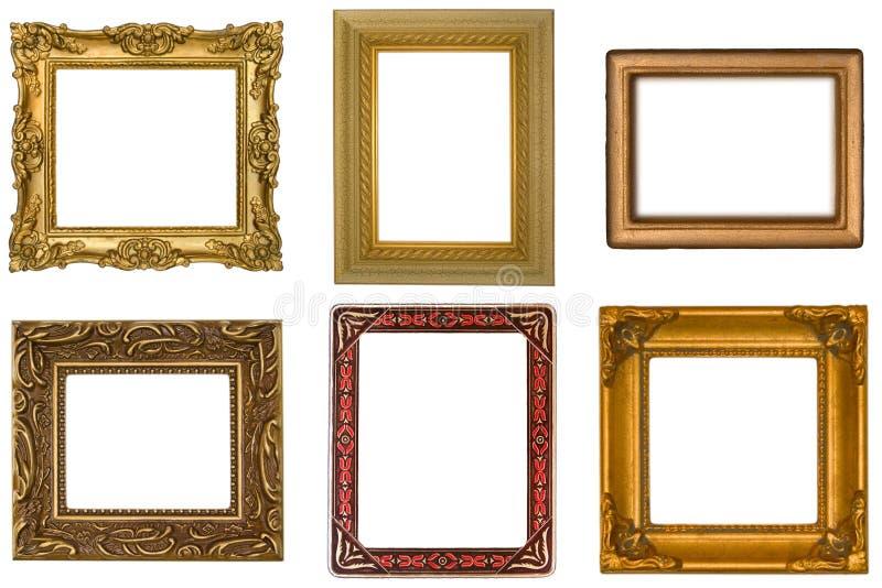 Seis frames antigos foto de stock royalty free