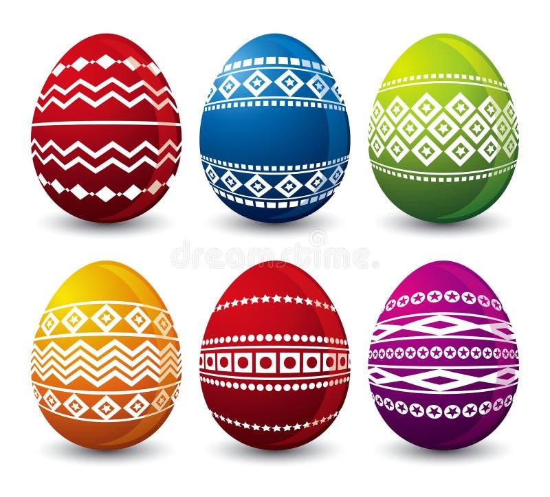 Seis huevos de Pascua, vector foto de archivo libre de regalías