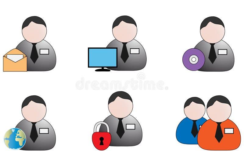 Seis iconos stock de ilustración