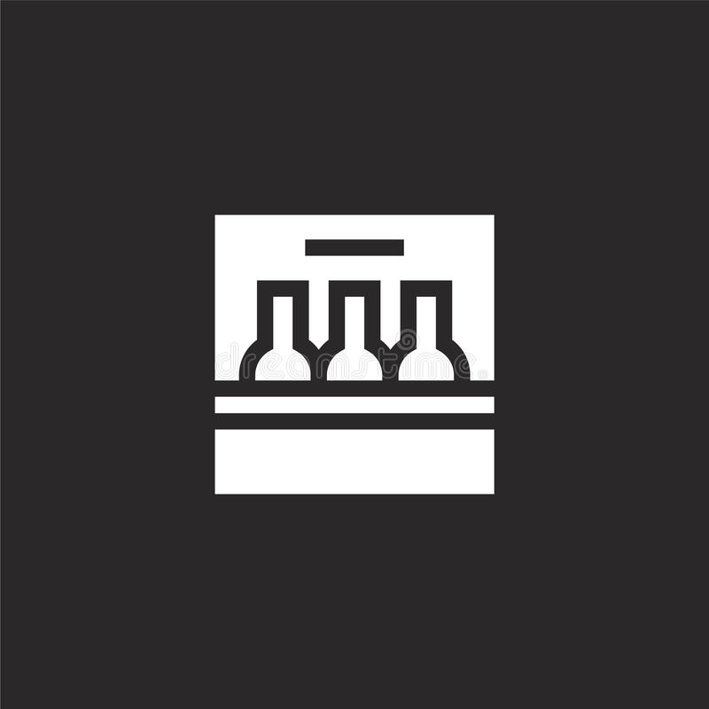 seis iconos del paquete Llenado seis iconos del paquete para el diseño y el móvil, desarrollo de la página web del app seis icono libre illustration
