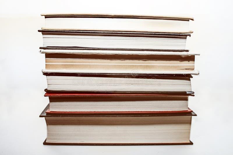 Seis livros velhos imagem de stock royalty free