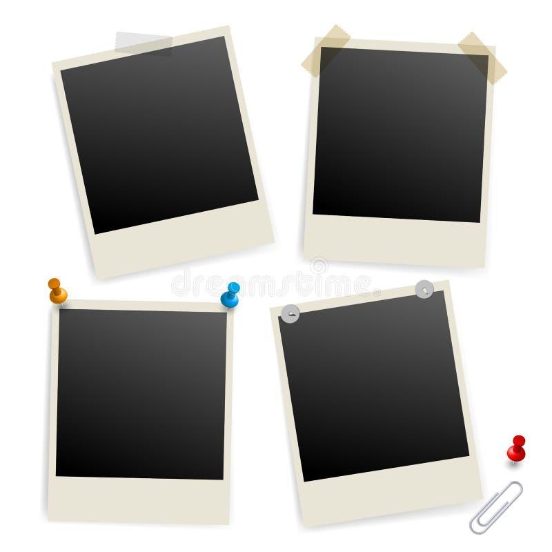 Seis marcos vacíos stock de ilustración