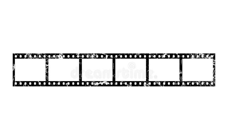 Seis quadros da tira do filme de 35 milímetros ilustração do vetor