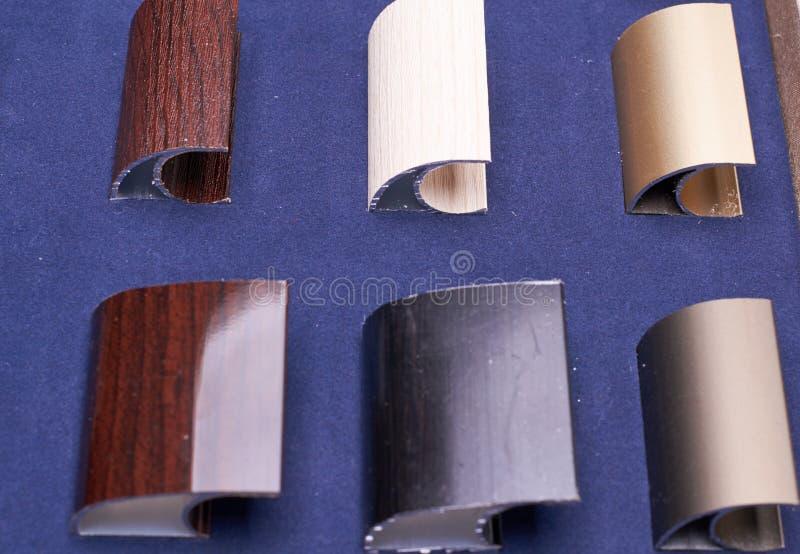 Seis qualidades de acessórios do metal fotos de stock